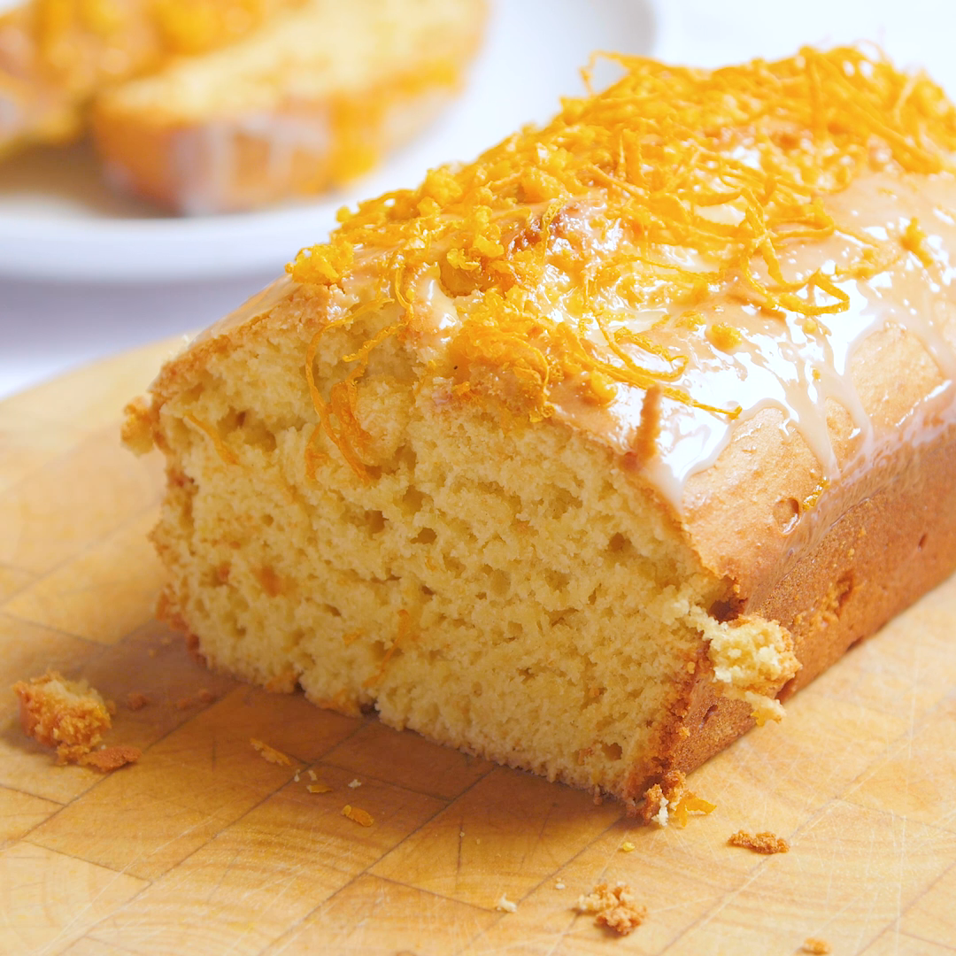 This easy baking recipe only needs three ingredients for a deliciously zesty orange loaf cake.