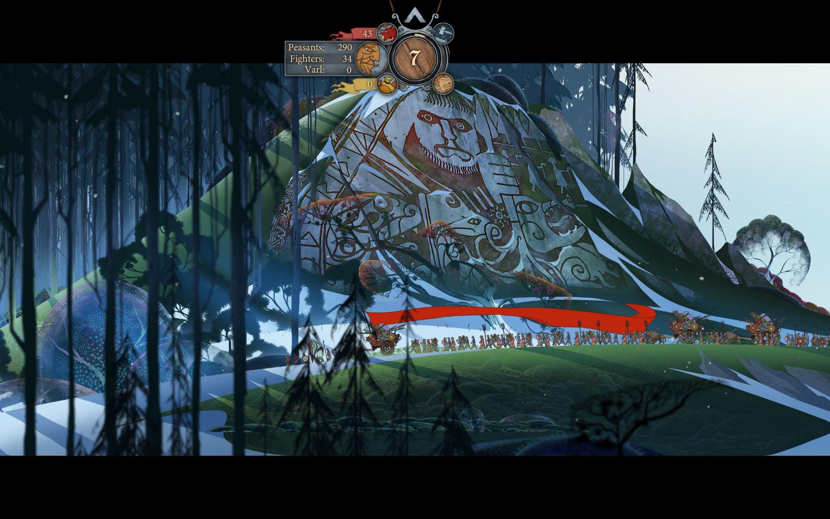 The Banner Saga Review Screenshot Gameplay Banner Saga Savage Worlds Environmental Art
