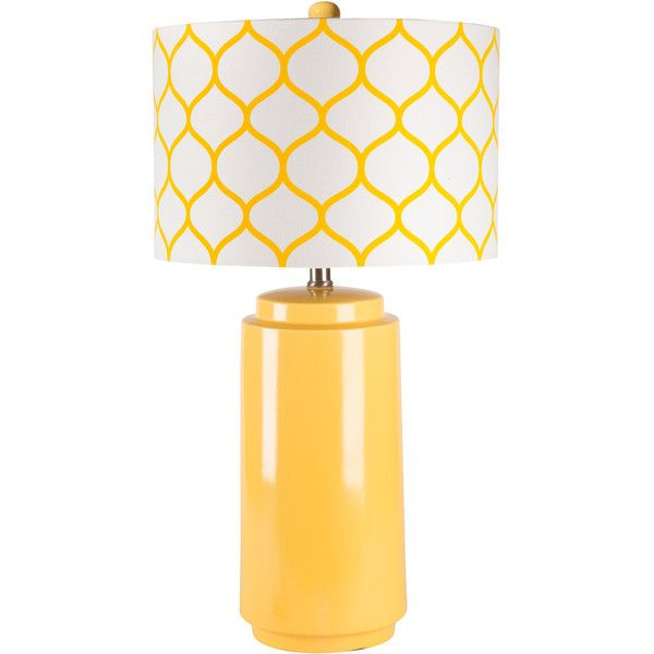 Surya Hadley Yellow Morrocan Table Lamp 197 Liked On Polyvore Featuring Home Lighting Table Lamps Yellow Light Yello Yellow Table Lamp Lamp Table Lamp