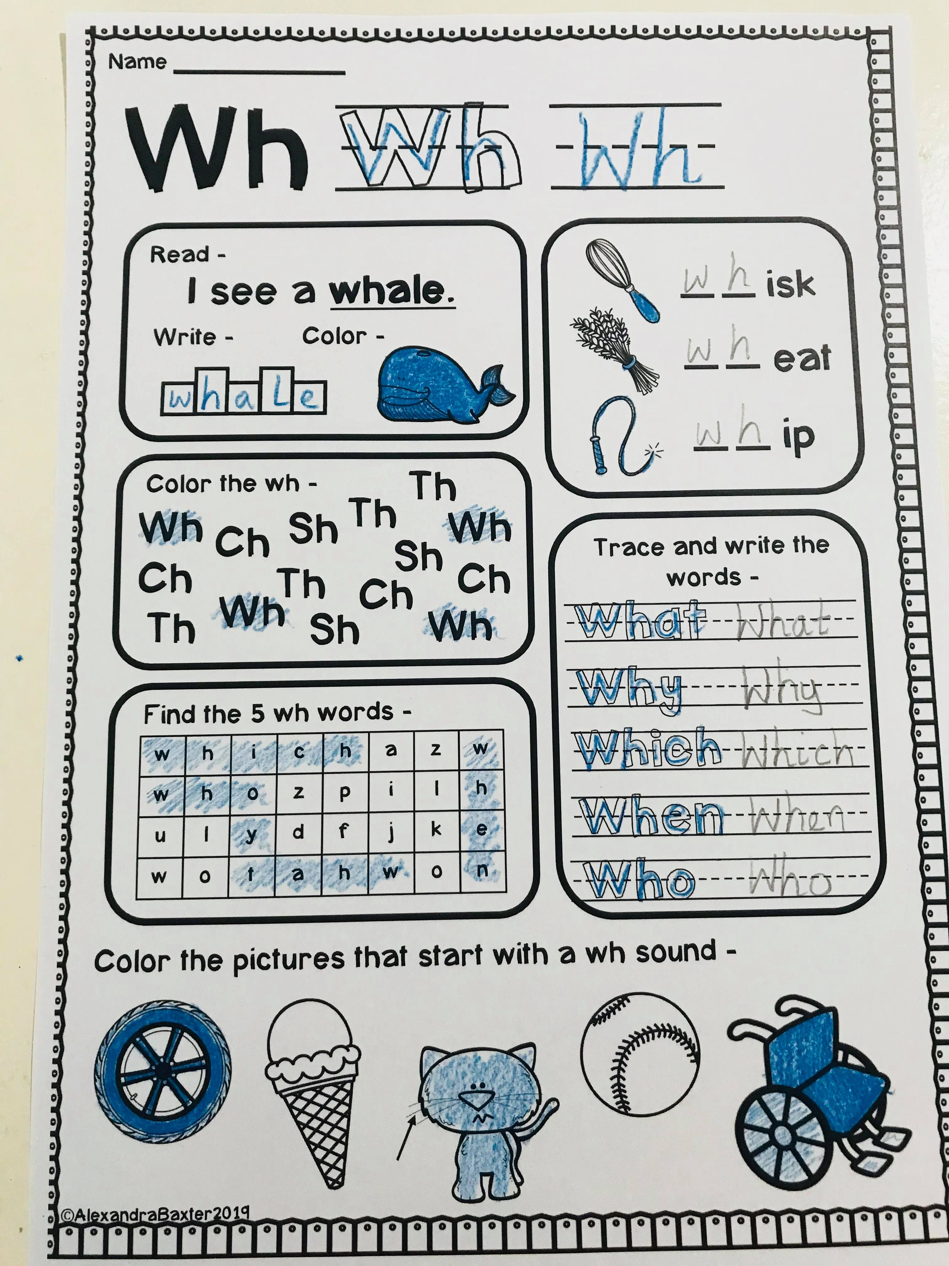 Phonics Worksheets Digraphs   Printable Worksheets and Activities for  Teachers [ 4032 x 3024 Pixel ]