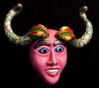 Dragon Horn custom designed by Jonathan Becker at theater-masks.com
