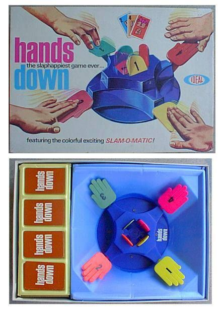 Hands Down Board Game 1960 S 70 S Toys Games