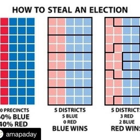 #Repost @amapaday with @repostapp ・・・ A chart illustrating gerrymandering in its