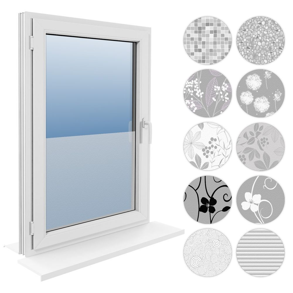 60 Cm Fensterfolie Statische Sichtschutzfolie Milchglasfolie Glasdekorfolie Fensterfolie Sichtschutzfolie Dekor