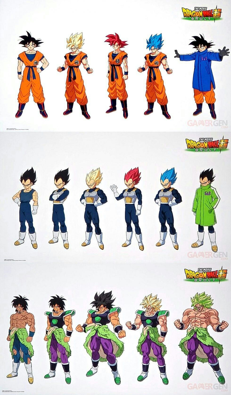 Character Designs From The Dragon Ball Super Broly Movie Dragon