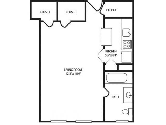 Seneca-Chicago   Apartment Layouts $1425
