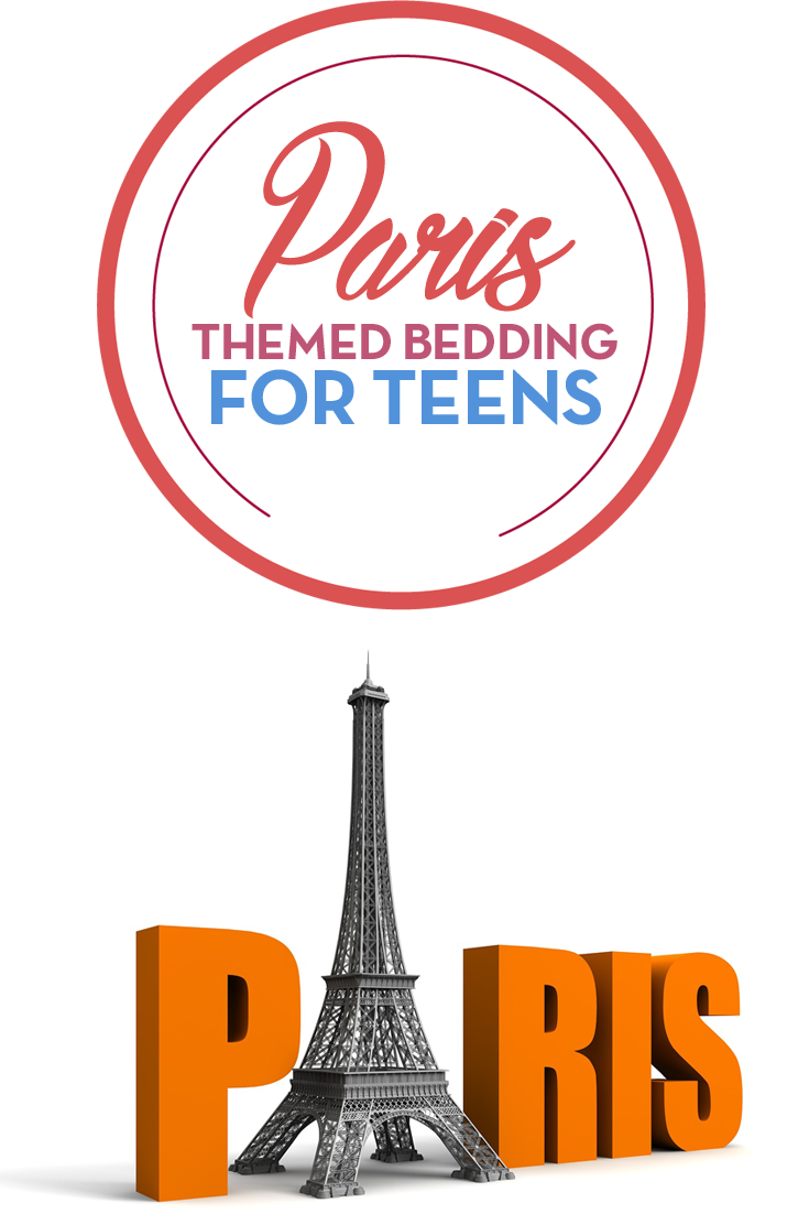 Fun Paris themed bedding for teen girls! These Paris ...