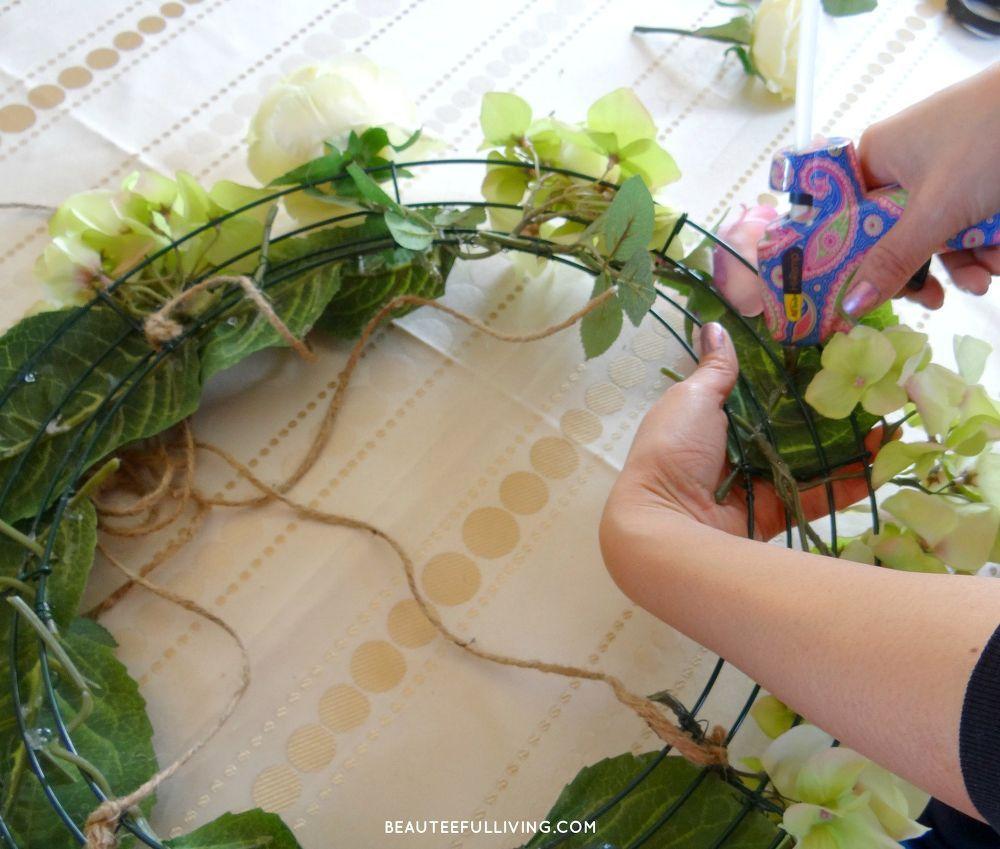 Floral chandelier diy hanging floral chandelier diy aloadofball Choice Image