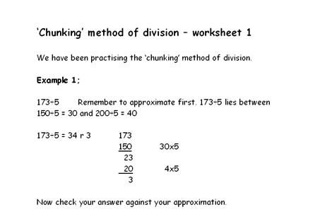 Chunking Method   ks2 Teaching Resources   Pinterest