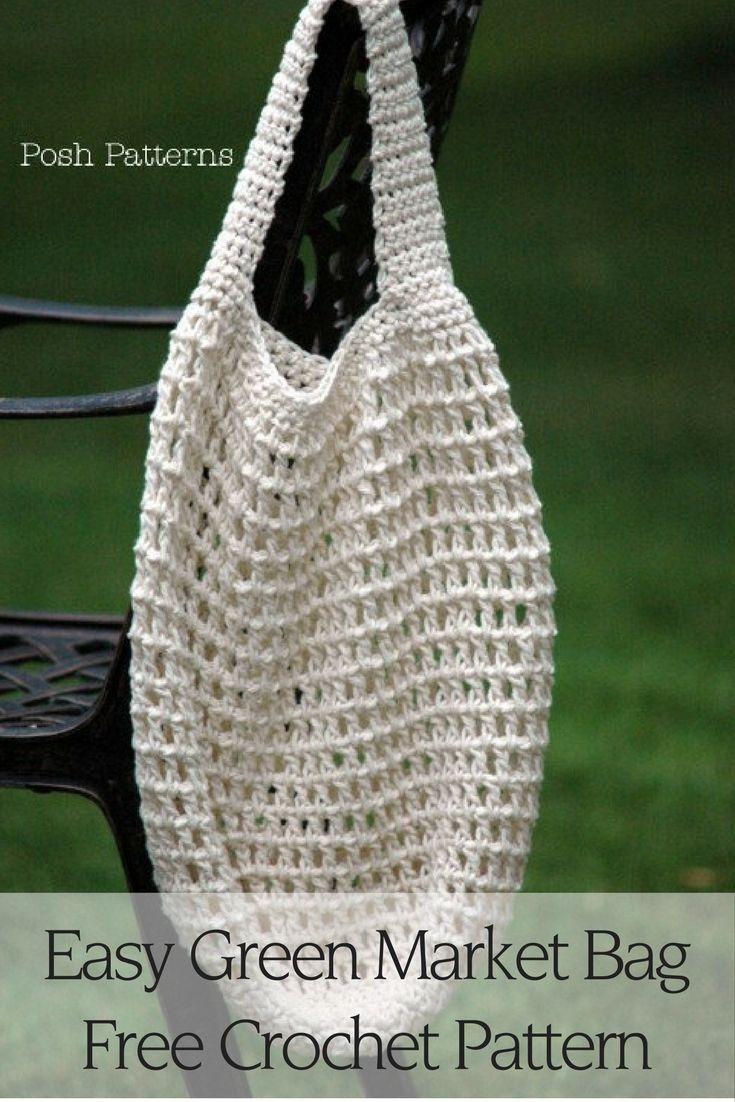 Crochet Market Bag Pattern | Bolsos, Ganchillo facil y Patrón de ...
