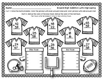 Football Time Super Bowl Prediction Math Tivity Math Sheets Math Super Bowl Crafts