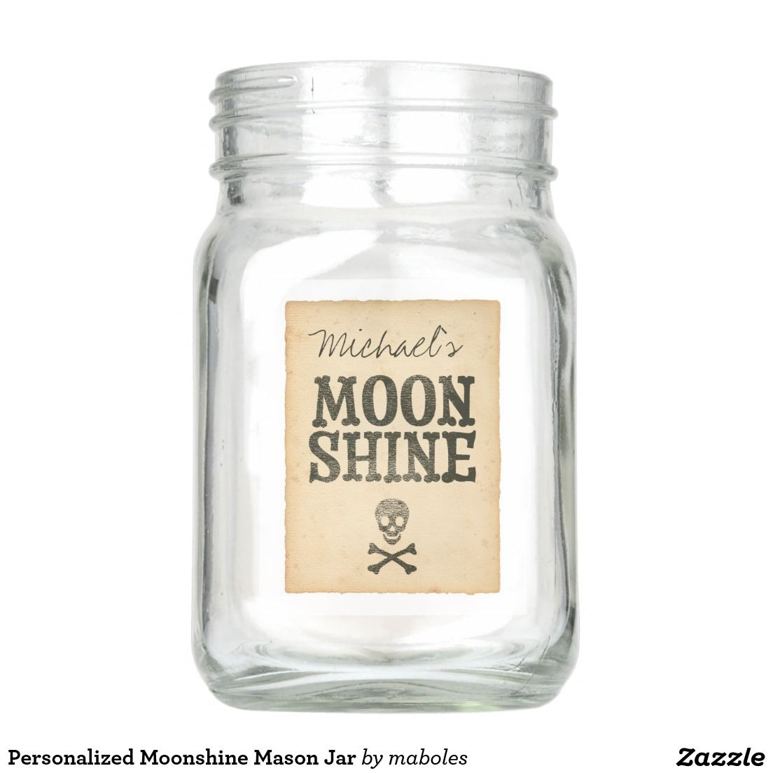 Personalized Moonshine Mason Jar | Mason Jars | Pinterest