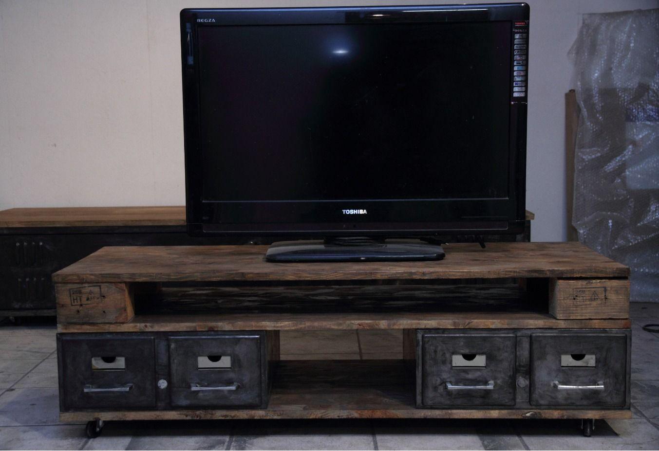 Petit Meuble Tv Industriel Meubles Et Rangements Par Fox Design  # Petit Meuble Tv Industriel