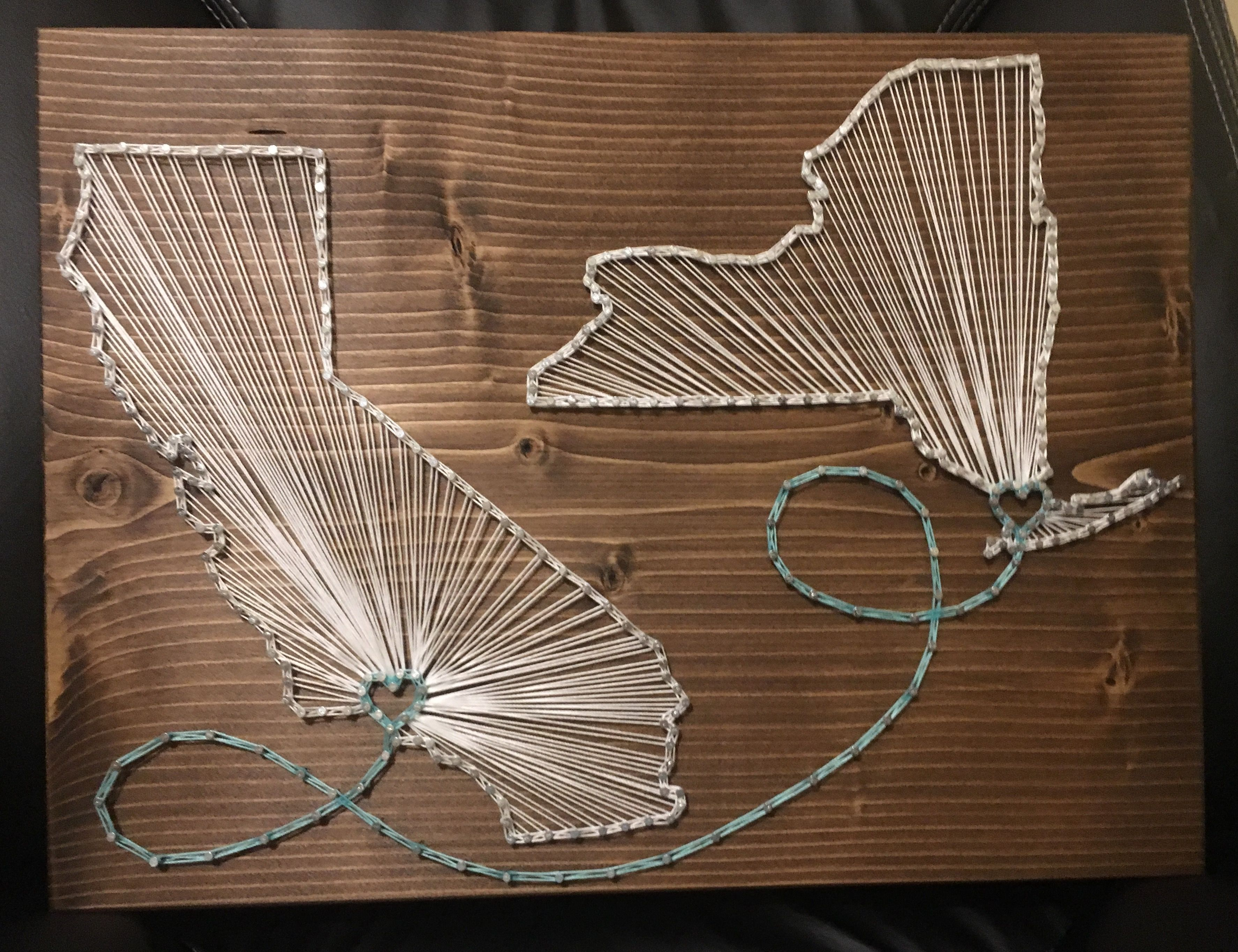Double State Country String Art, California, New York  Order