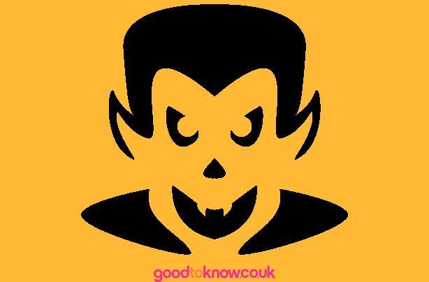 pumpkin template vampire  Free pumpkin carving patterns | Vampire pumpkin, Pumpkin ...