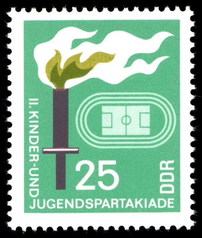 Stamps of Germany (DDR) 1968, BriefmarkenJahrgang 1968