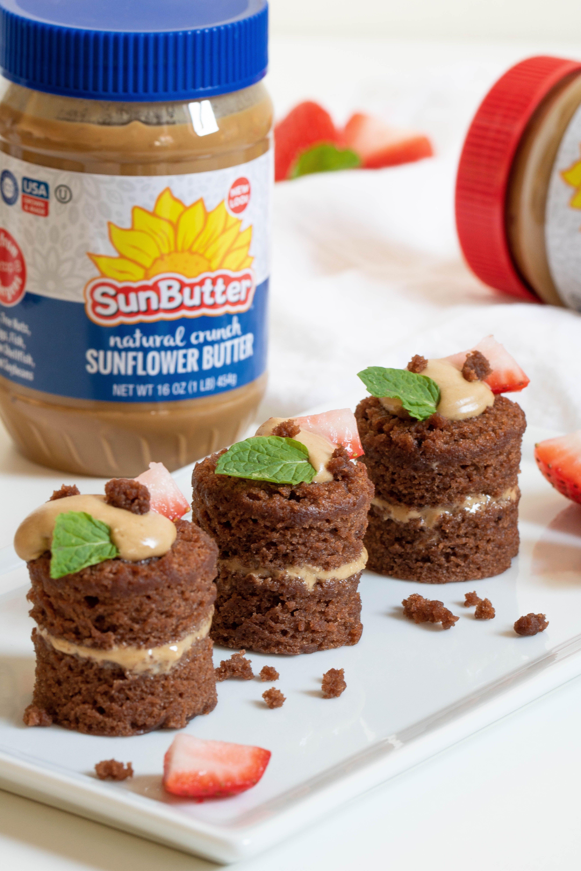 Chocolate Sunbutter Vegan Mini Cakes