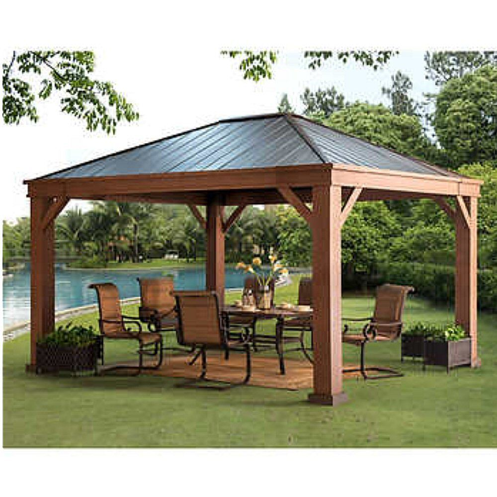 Fallbrook Hardtop 12 X 14 Gazebo No Tax 2 479 99 302709032192 Backyard Pavilion Outdoor Pergola Backyard Gazebo