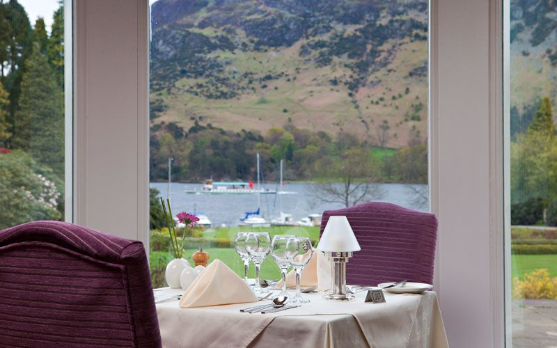Lake View Restaurant. 2 AA Rosettes. Inn on the Lake, Ullswater, Lake District, Cumbria