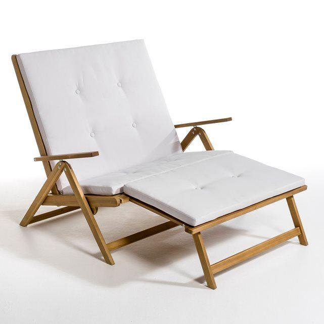 Chaise longue double acacia huilé la redoute interieurs la redoute mobile
