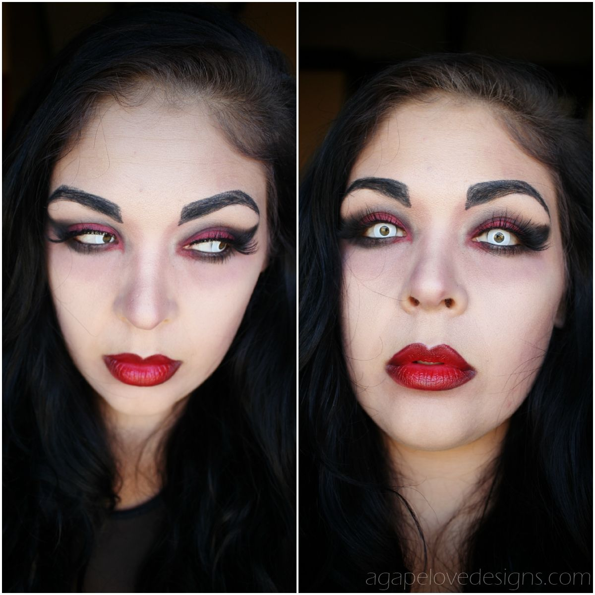 Easy Vampire Makeup Tutorial (Video) (With images