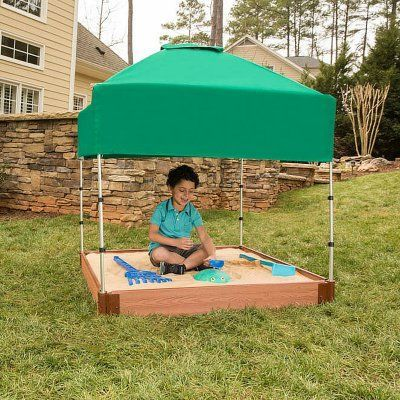 Frame It All Composite Square Sandbox Kit with Canopy/Cover - 300001363 & Frame It All Composite Square Sandbox Kit with Canopy/Cover ...