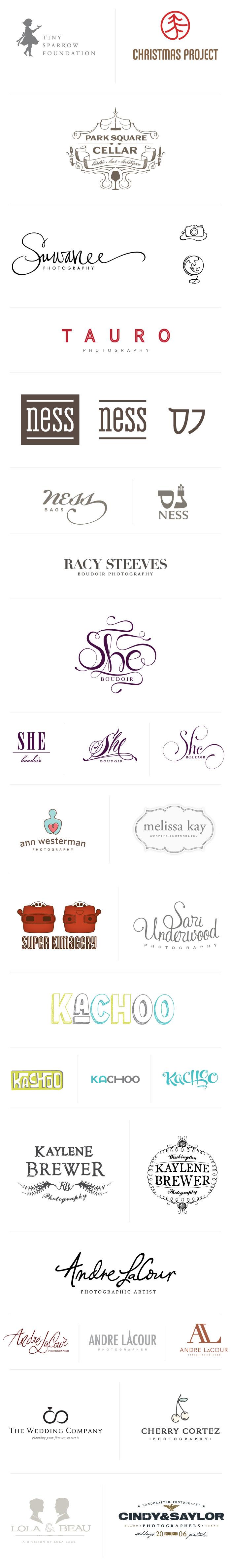 Logo portfolio from Braizen (great use of fonts)
