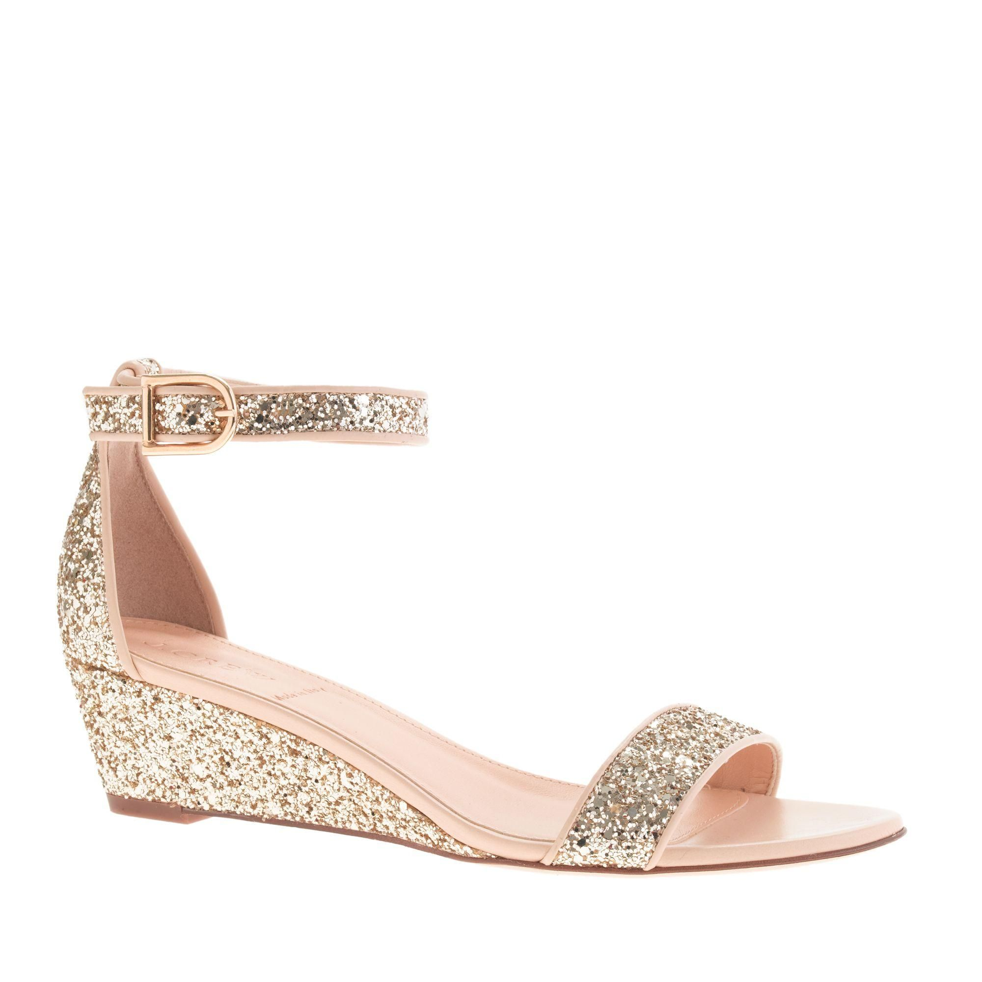 Sparkle Small Wedge Sandals Glitter SandalsSparkly SandalsWedge Wedding