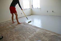Diy Stencil Painted Subflooring Remodel Diy Flooring