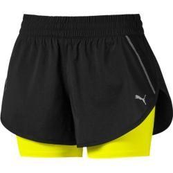 Puma Damen Shorts Last Lap 2in1 Short, Größe S In Puma Black-Yellow Alert, Größe S In Puma Black-Yel
