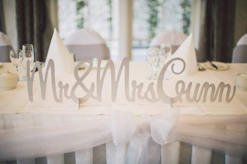 Classic Wedding Invitations - Laser Cut Mr and Mrs Wedding Sign ...