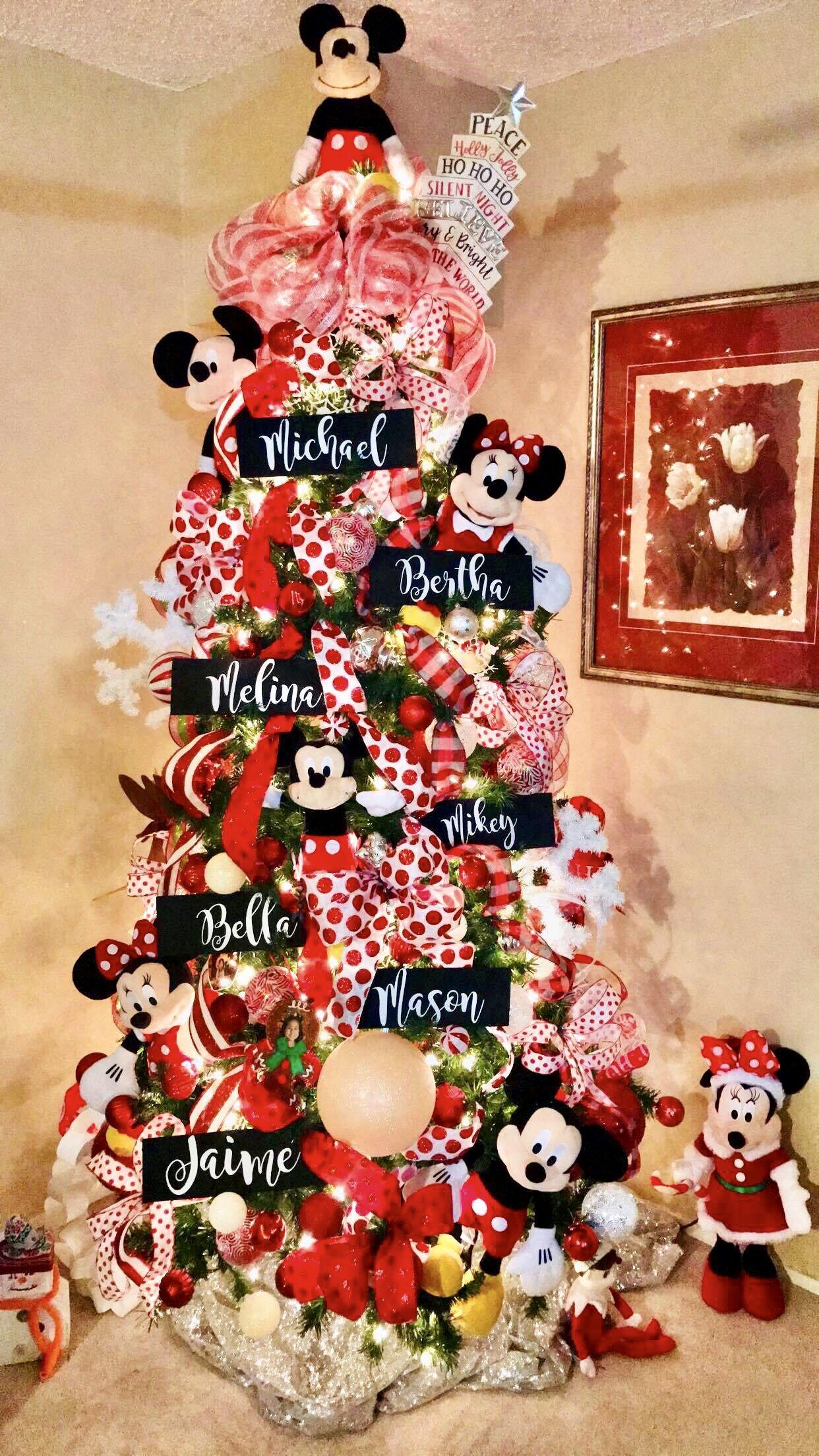 Mickey Minnie Christmas Tree Disney Christmas Tree Disney Christmas Tree Decorations Disney Christmas Decorations