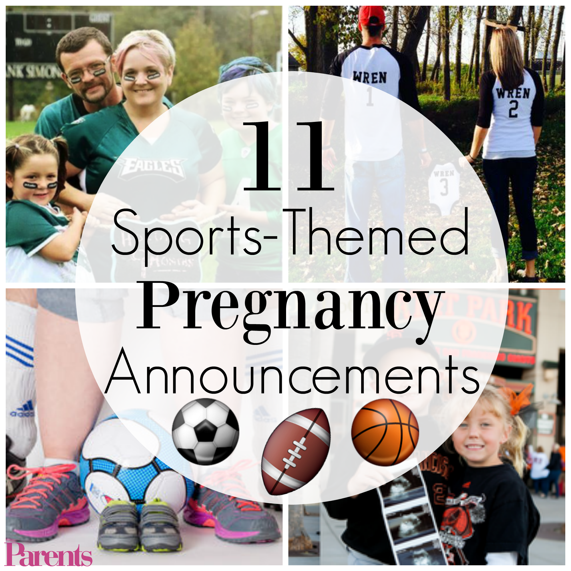 11 winning sports themed pregnancy announcements. Black Bedroom Furniture Sets. Home Design Ideas