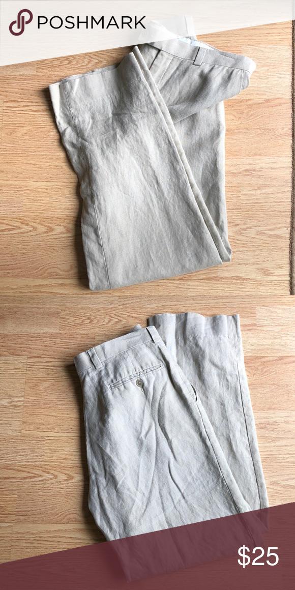 Men S Linen Pants From Calvin Klein Linen Pants Mens Linen Pants Calvin Klein Pants