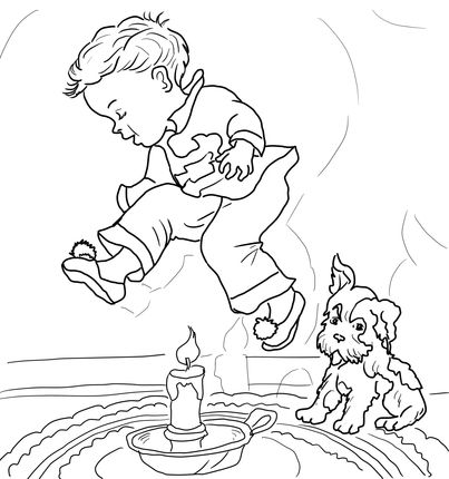 Click To See Printable Version Of Jack Be Nimble Coloring Page