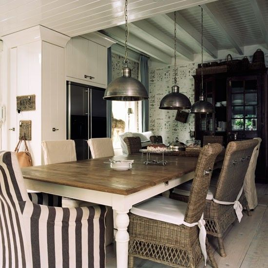Dining Room | Colonial Style Dutch House The Large Dining Table Is One Of  The