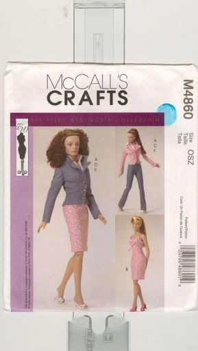 "Free Copy of Pattern - McCalls 4860 This is a pattern for 16"" Tyler Wentworth and similarly proportioned dolls."