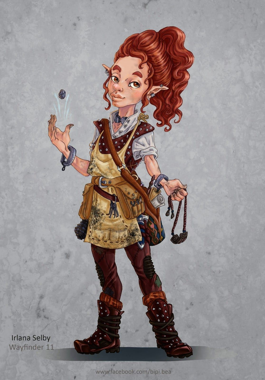 Female Gnome: F Gnome Rogue Thief Studded Leather Sling