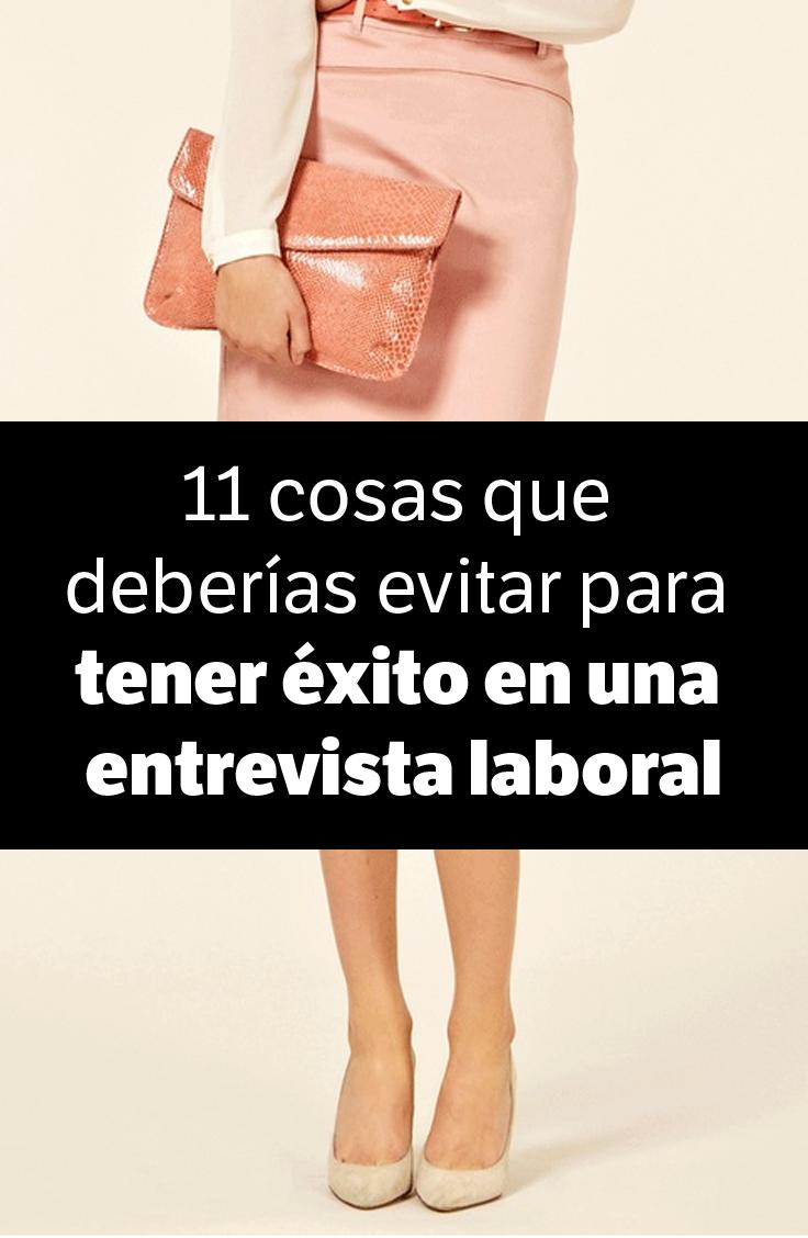 11 cosas que toda mujer debería evitar al vestirse para tener éxito en una entrevista laboral - La indumentaria ayuda a reforzar tus encantos, pero también puede anularlos, enterate qué no tenés que hacer. http://elmeme.me/mariarambla/11-cosas-que-toda-mujer-deberia-evitar-al-vestirse-para-tener-exito-en-una-entrevista-laboral_57126