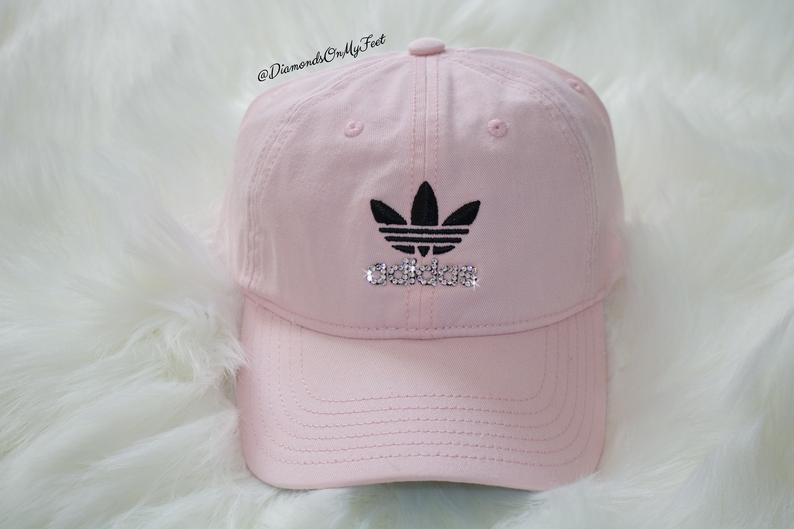 Swarovski Women's Bling Adidas Hat Precurved Strapback Pink ...