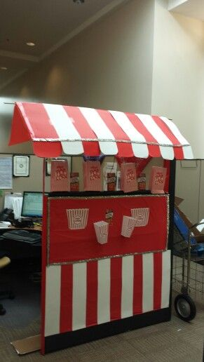 Carnival Popcorn Office Cubicle Booth Fair Office