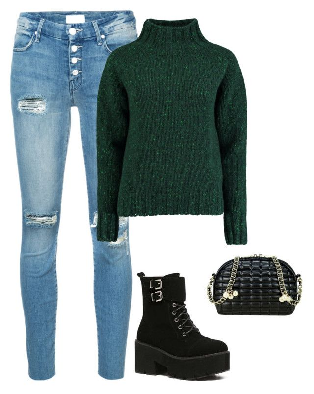 """""""Sweater"""" by giulia-ostara-re ❤ liked on Polyvore featuring Mother and Lowie"""
