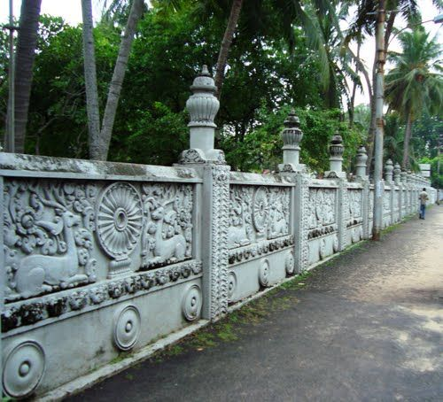 Isipathanaramaya Temple Colombo Tripomatic Boundary Walls Temple Garden Wall