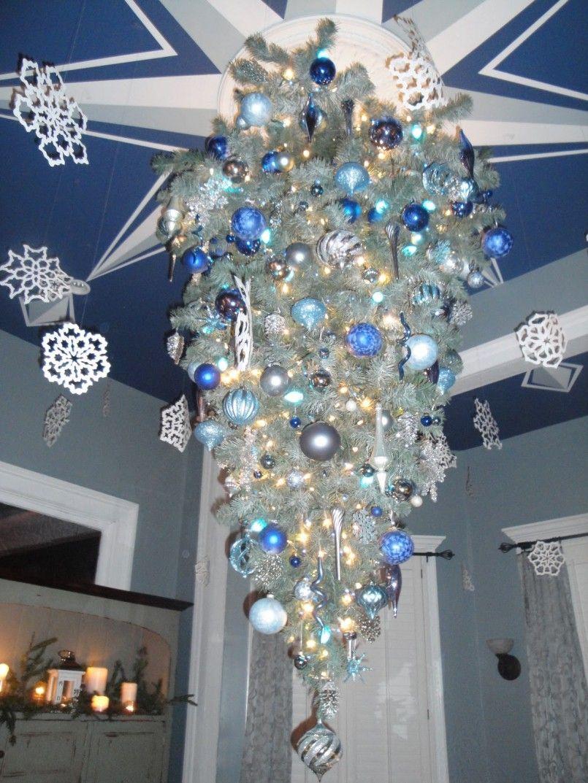 Decorations Beautiful Christmas Tree Hanging Upside Down