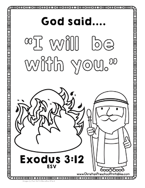 image regarding Baby Moses Printable referred to as No cost Moses Bible Printables! Child Moses, Burning Bush, 10