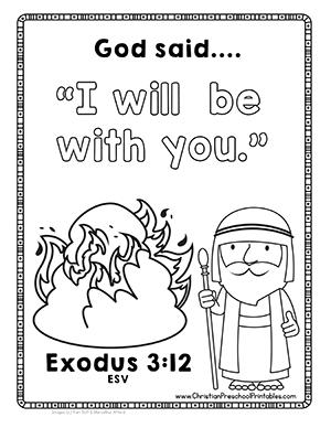 Free Moses Bible Printables Baby Burning Bush 10 Plagues Commandments