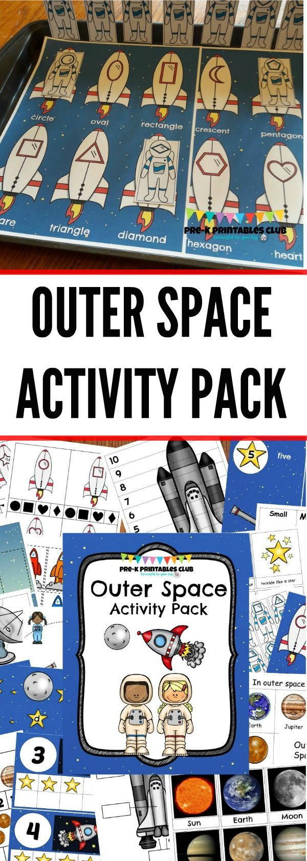 Outer Space Activity Pack Space Preschool Outer Space Activities Space Activities [ 1680 x 600 Pixel ]