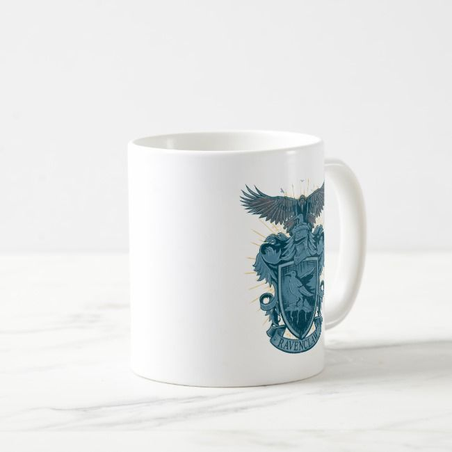 Harry Potter | Ravenclaw Crest Coffee Mug | Zazzle.com #disneycoffeemugs