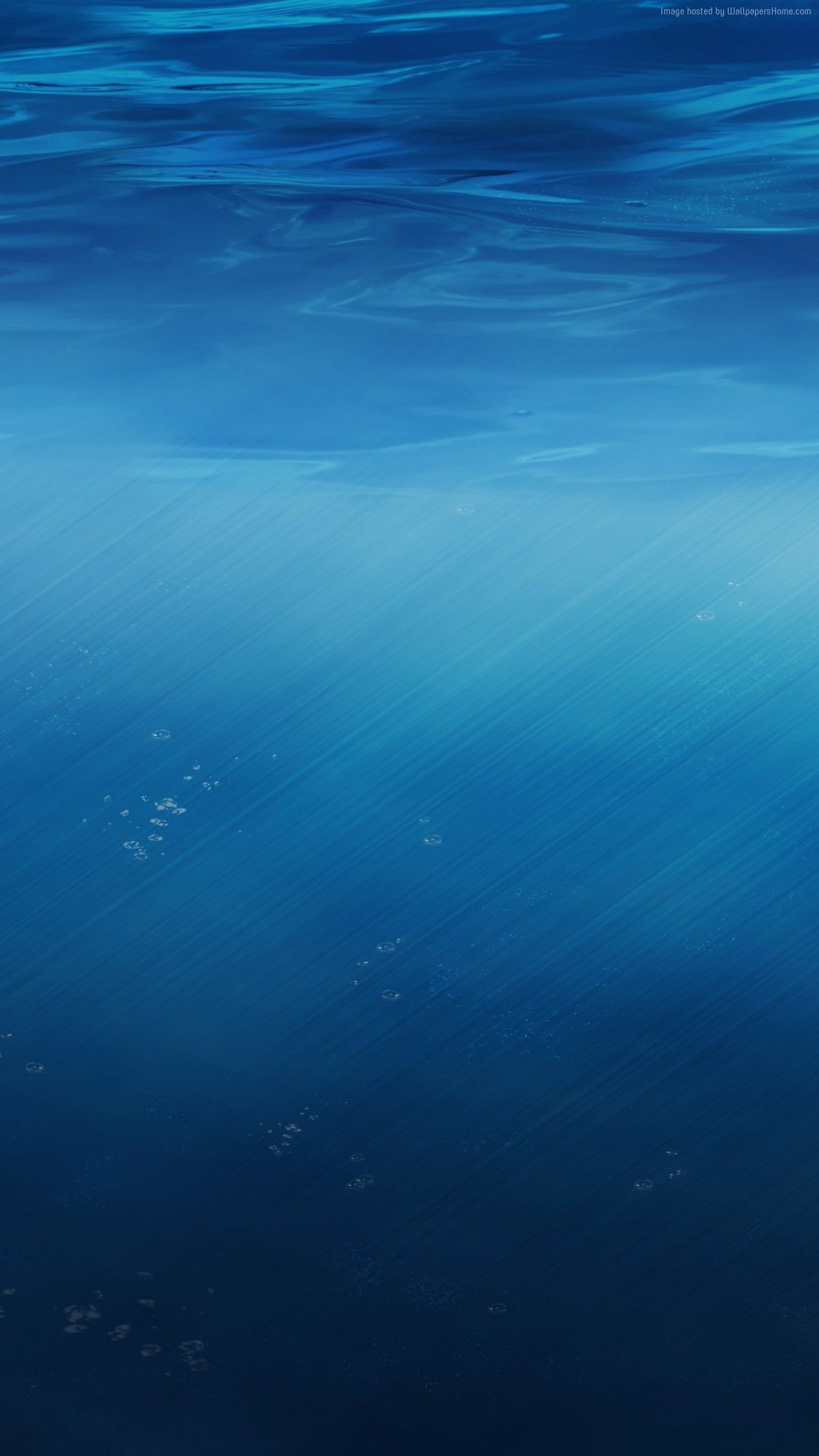 Blue Water Ocean Sea Wallpaper Iphone Clean Colour Minimal Photography Iphone 7 Iphone 6 Underwater Wallpaper Wallpaper Underwater