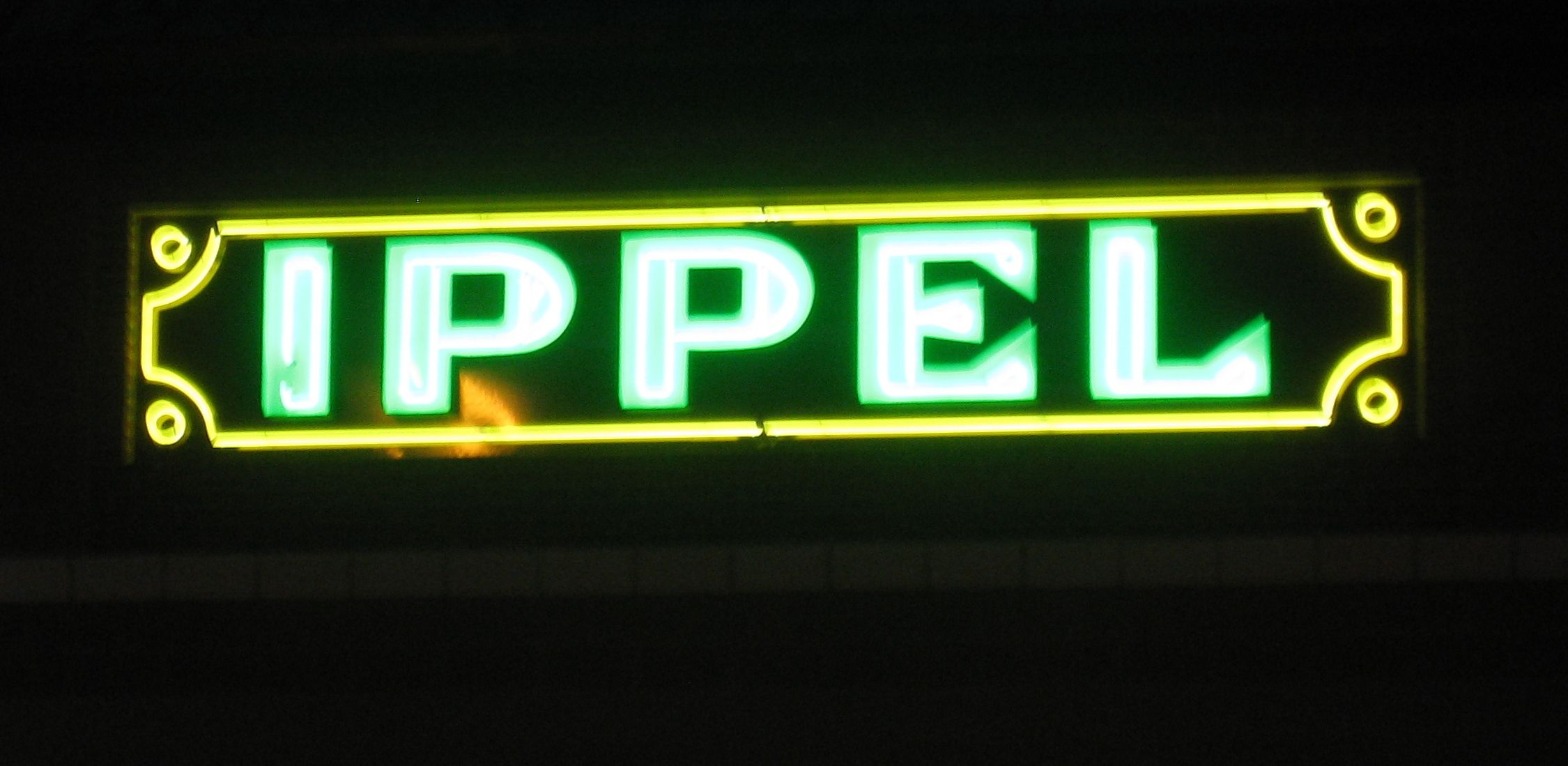 former ippel's department store sign in saginaw, michigan. this